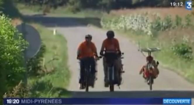 Trio de suntrippeurs pyrénéens au 19/20 de France 3 Midi-Pyrénées