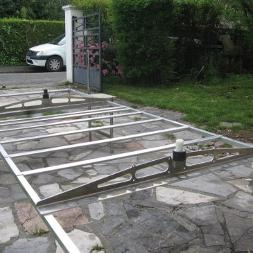 Manufacturing and installation of solar panels support